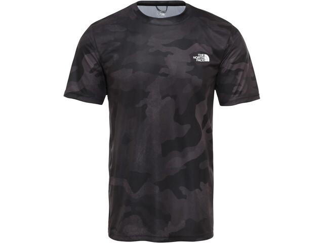 The North Face Reaxion Amp Crew Camiseta Hombre, tnf black waxed camo print